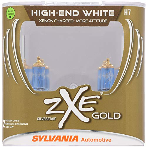 SYLVANIA - H7 (64210) SilverStar zXe GOLD High Performance Halogen Headlight Bulb - Headlight & Fog Light, Bright White Light Output,...