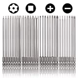 Rocaris 30 Pack 1/4 Inch Hex Shank Long Magnetic Screwdriver Bits Set 6 Inch Power Tools(Slotted+Cross+Square...