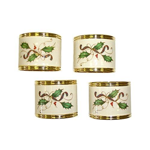 Lenox Holiday Nouveau Napkin Rings, Set of 4