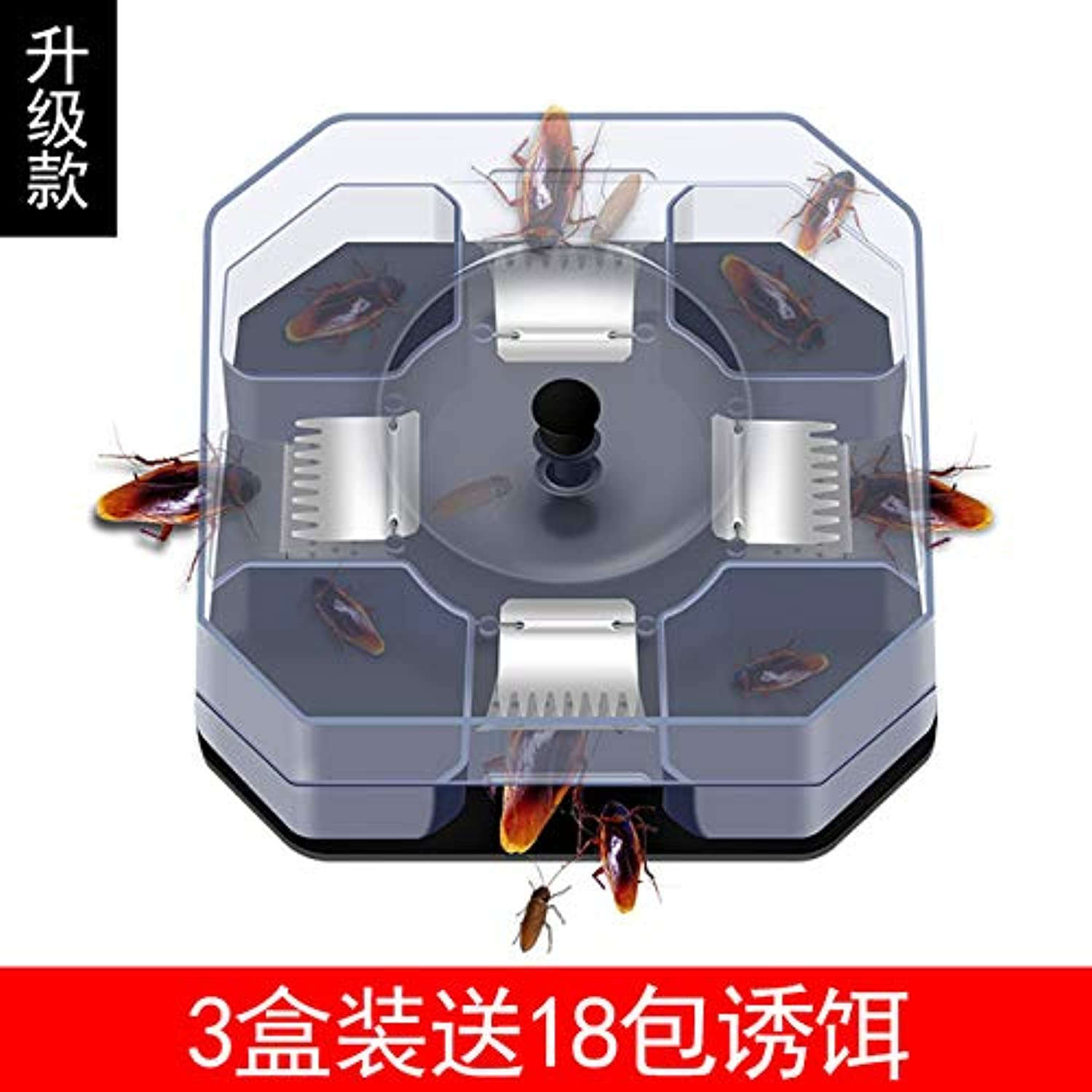 Cockroach Trap Fifth Upgrade Safe Efficient Anti Cockroaches Killer Plus Large Repeller No Pollute for Home Office Kitchen   18 Packets of