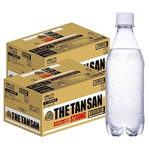 【強炭酸】コカ・コーラ カナダドライ ザ・タンサン ストロング ラベルレス 430ml ×48本