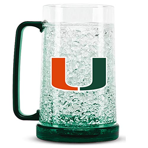 NCAA Miami Hurricanes 16oz Crystal Freezer Mug