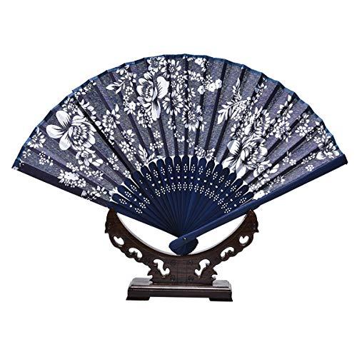 LKXHarleya Ventilateur De Main Pliant Bleu RéTro De La Chine