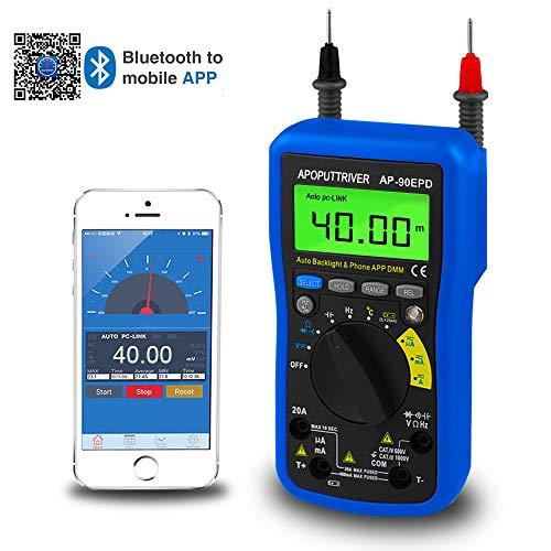 Multímetro 90EPD, medidor digital remoto automático, medición de voltaje AC / DC,corriente,resistencia, temperatura, frecuencia, ciclo de trabajo, almacenamiento de datos, retroiluminación