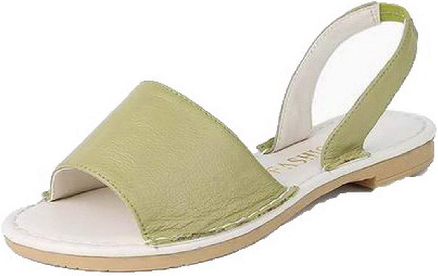 WeiPoot Women's Open-Toe Low-Heels Pull-On Sandals,EGHLH008007