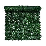 Seto Artificial Huertos urbanos Vallas Decorativas Valla de Pared de Hoja Verde Artificial para decoración de Boda de jardín Valla de jardín de privacidad de seto de Hiedra Artificial lpzsmd0825(Co
