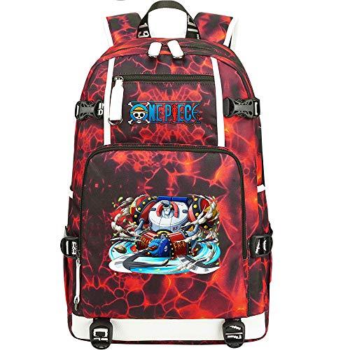 ZZGOO-LL One Piece Monkey·D·Luffy/Franky Bolsa de Hombro Mochila para Exteriores para un montón de Almacenamiento Bolsa USB Unisex-A