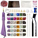 FinaTider Hotfix Rhinestones Applicator,More Bigger AB Crystal,Clear,Colors,Bedazzler Kit with Rhinestones,5780 Pcs,16 Colors,7 Tips Hot Fix Wand Setter Tool Tweezers Picker Brush Stand Manual