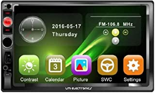 Radio Automotivo Central Multimídia Universal Mp5 2 Din 7 Polegadas HD 4x60w Espelhamalhento USB Bluetooth Aux. SD