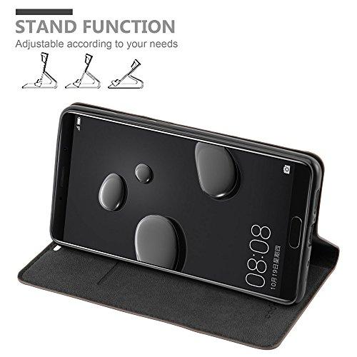 Cadorabo Hülle für Huawei Mate 10 - Hülle in Kaffee BRAUN – Handyhülle mit Magnetverschluss, Standfunktion und Kartenfach - Case Cover Schutzhülle Etui Tasche Book Klapp Style - 3