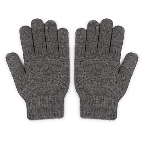 "Moshi Digits Winter Gloves Touchscreen, Size L (19-20.5cm/7.1""-8.1""), Dark Gray"