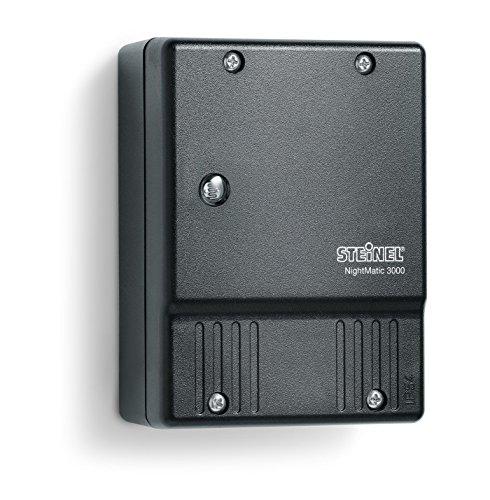 Steinel Dämmerungsschalter NM 3000 schwarz, Licht-Steuerung, Dämmerungssensor, Nachtsparmodus, Eigenlichtkompensation