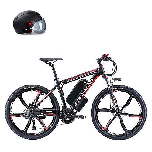 Pc-Glq Bicicleta Eléctrica De Montaña, 26' 500W Batería 48V E-Bike Sistema De Transmisión De 27 Velocidades con Linterna con Batería De Litio Desmontable, Velocidad Máxima 25 Km/H,13A