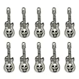 TENDYCOCO 20pcs Charms Skull Guitar Pendants DIY Jewelry Making Accessory for Necklace Bracelet