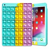 Fidget Pop Toys for iPad 10.2 Case 2020 iPad 8th Generation Case Push Bubble Sensory Toy Soft Silicone Protective Cover for Boys Women Kids Girls Stress Reliever Shockproof for iPad 8th/iPad 7th Gen