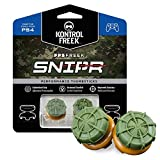 KontrolFreek FPS Freek Snipr for PlayStation 4 (PS4) Controller | Performance Thumbsticks | 2 High-Rise Convex (Domed) | Green