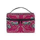 iRoad - Trousse per trucchi etnici indiani a forma di elefante indiano, borsa da viaggio, organizer per cosmetici, per donne e uomini