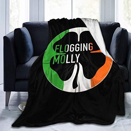 zhenglongbaihuodian Flogging Molly Flanell Decke Queen Size Velvet Plüsch werfen Mikrofaser Decke die ganze Saison 80 x 60 Zoll