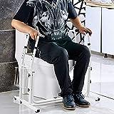 HENGMEI Toiletten Aufstehhilfe Toilettenstützgestell WC Stütze Höhenverstellbar Stützhilfe Sicherheit Rahmen - 6