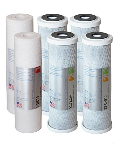 APEC Water Systems FILTER-SETX2 US Made Double Capacity Replacement Stage 1-3 For ULTIMATE Series Reverse Osmosis System, Sets of 2