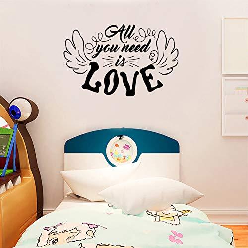 Dalao muurstickers, Engels, gesneden, alles wat je nodig hebt is liefde, woonkamer, slaapkamer, muurstickers.