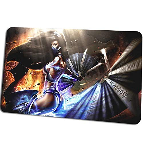 SBDCNZ Gaming Mouse Pad Game Anime Battle Girl 800x300x3mm Mouse Mat XXL Mousepad - Table mat Large Size - Rubber Base for Stable Grip on Smooth Surfaces - Non-Slip - Improved Precision and Speed