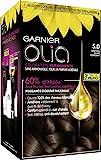 Garnier - Olia - Coloration Permanente à l'Huile Sans Ammoniaque Châtain - 5.0 Châtain Clair Fondant