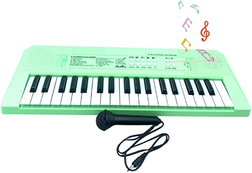 Jugutoz Kids Keyboard Piano 37 Keys Piano Keyboard For Kids Musical Instrument Gift Toys For Over 3 Year Old Children Neon Green