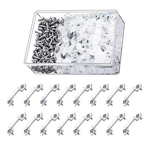 INCREWAY LED Strip Fixed Clips, 200pcs Transparent LED Strip Light Fastener Silicon Clips LED Strip Light Mounting Brackets Suitable for 14mm Lamp Belt in Width