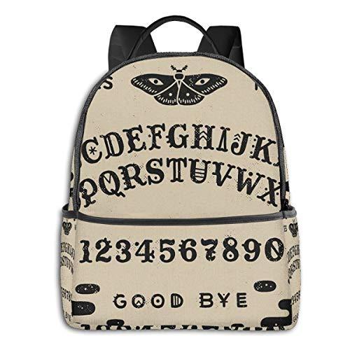 FONDSILVER - Sac à Dos pour Enfant - Motif Planche de Ouija - Format décontracté - Unisexe - pour Adolescents, Femmes, Filles et garçons