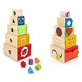 I'm Toy 108871 Multi-Spielkisten-5 stapelbare Holzkistchen mit vielen Möglichkeiten die...