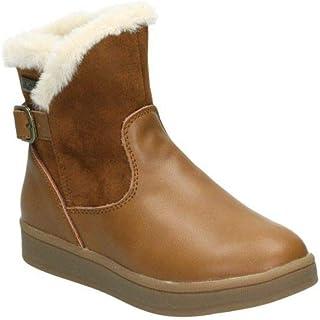 6b95b056aea Amazon.es: Botas De Pelo - Cremallera / Zapatos: Zapatos y complementos