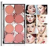 CCbeauty 8 Color Blush Palette Matte, Long...