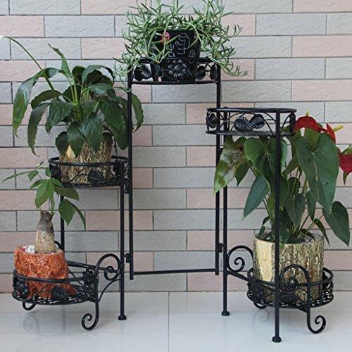 Stand de Fleur/Plante Stand de métal Floral Stand de Stockage de Jardin intérieur/extérieur (Blanc) (Color : 3)