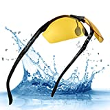 Night Driving Glasses HD Polarized Lens Retro Wayfarer Sunglasses for Men Women (Night Vision-6)