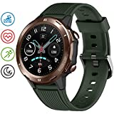 UMIDIGI Smart Watch, 5ATM Waterproof Fitness Tracker with Pedometer Heart Rate Monitor Sleep Tracker, Ultra-Long Battery Life, Smartwatch Compatible with iPhone Samsung for Men Women-Uwatch GT Green