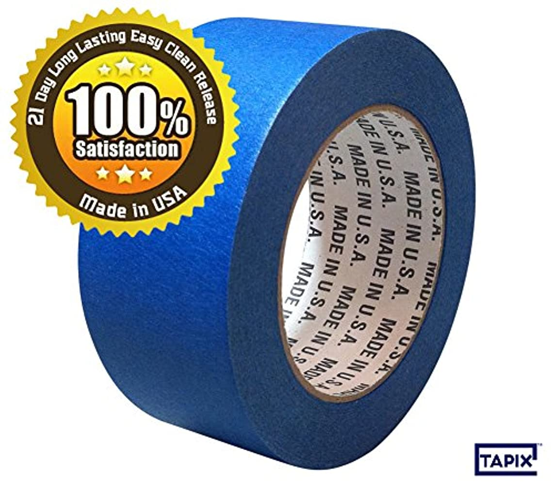 4 INCH BLUE PAINTERS MASKING TAPE - 21 DAY LONG LASTING EASY CLEAN RELEASE - 5.5 ML - 4