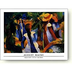 アウグスト・マッケ,木の下の少女たち,1914年
