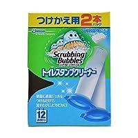 【お徳用 4 セット】 スクラビングバブル トイレスタンプクリーナー フレッシュソープの香り つけかえ用 38g×2本パック×4セット