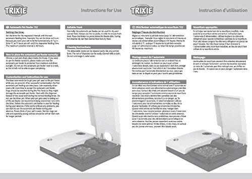 Trixie 24372 Futterautomat TX2, 2 x 300 ml, 27 x 7 x 24 cm, schwarz/granit - 4
