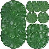 12 Pieces Artificial Floating Foam Lotus Leaves, Lily Pads Artificial Foliage Pond Decor for Pond Pool Aquarium Decoration