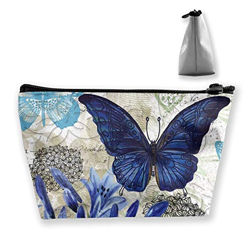 Travel Toiletry Bag Shaving Bag Sturdy Hanging Organizer with Blue Floral Print Design, The and Travel Accessory