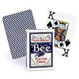 Bee Jumbo Index Playing Cards Poker Playing Cards with Large Numbers, One Dozen Decks