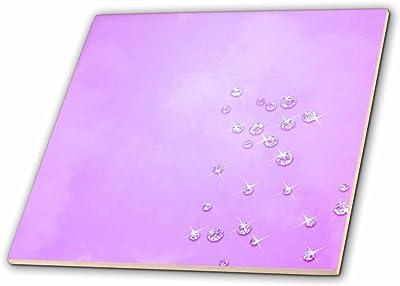 12 x 12 Rikki Knight Hot Pink Mustache Design Ceramic Art Tile