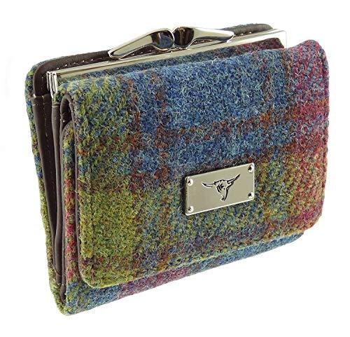 Damen 100% Harris Tweed Klein Verschluss Geldbörse LB2113 - Farbe 46, Small