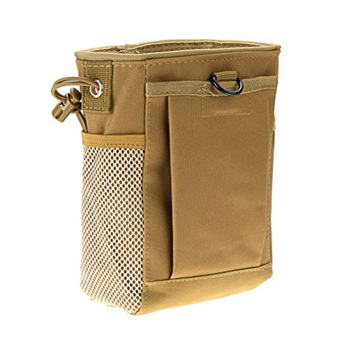 WINOMO Tactical gear bundles Molle Drawstring Magazine Dump Pouch Military Adjustable Belt Utility Hip Holster Bag Outdoor Pouch (Muddy)