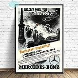 mgrlhm Poster und Drucke Grand Prix Rennen Retro Rennen