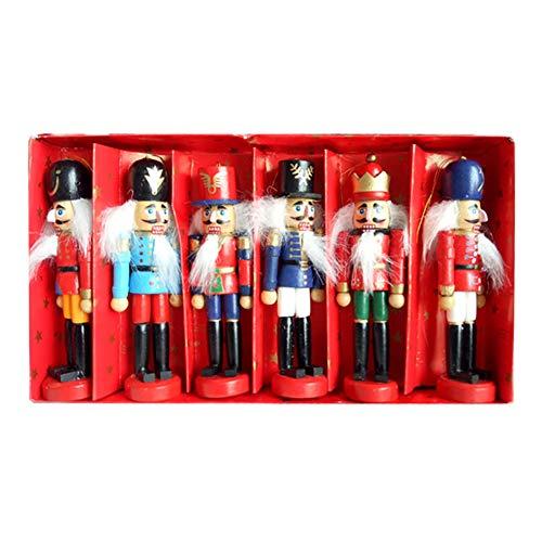Yisily Nussknacker-verzierung Hölzerne Soldat Puppets Figuren Dekoration 12cm