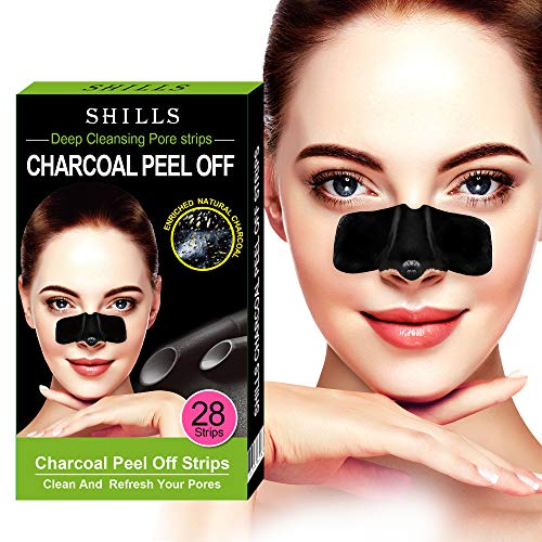 SHILLS Purifying Pore Strips, Nose Strips, 28 Count Strips, Deep Cleansing Blackhead Remover Strips, Blackhead Remover Nose Combo Pack