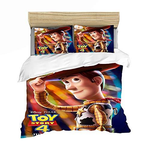 ASDZXC Disney Toy Story - Funda de edredón para niños, fibra de poliéster de alta calidad, resistente a la decoloración, con cremallera, para todas las estaciones (200 x 200 cm)